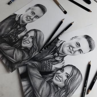 Portretų piešimas, paveikslų tapyba. / Sandra Stalmokaitė / Darbų pavyzdys ID 675701