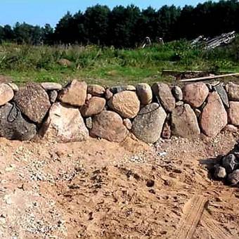 Atraminės sienelės .šlaitu .pakrančių,griovių tvirtinimas. / GeoMax / Darbų pavyzdys ID 675913