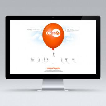 """""""Oranžinė reklama"""" internetinis puslapis."""