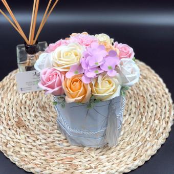 Muilo Gėlių kompozicijos Gėlės pagamintos iš muilo / Muilo Gėlės / Darbų pavyzdys ID 704885