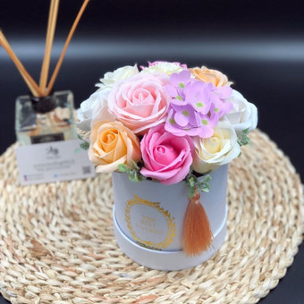 Muilo Gėlių kompozicijos Gėlės pagamintos iš muilo / Muilo Gėlės / Darbų pavyzdys ID 704887