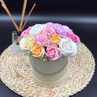 Muilo Gėlių kompozicijos Gėlės pagamintos iš muilo / Muilo Gėlės / Darbų pavyzdys ID 704893