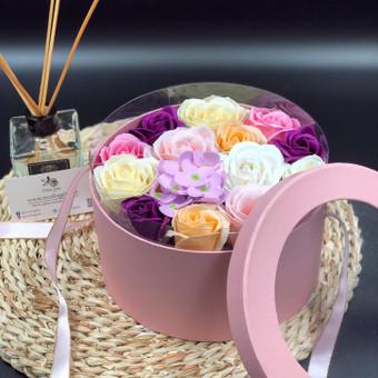 Muilo Gėlių kompozicijos Gėlės pagamintos iš muilo / Muilo Gėlės / Darbų pavyzdys ID 704897
