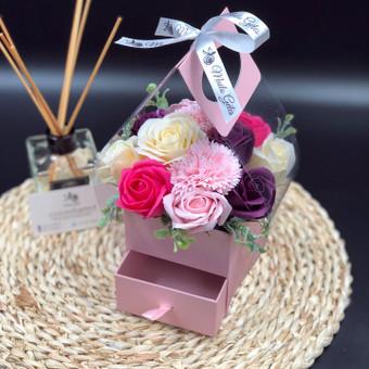 Muilo Gėlių kompozicijos Gėlės pagamintos iš muilo / Muilo Gėlės / Darbų pavyzdys ID 705137