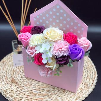 Muilo Gėlių kompozicijos Gėlės pagamintos iš muilo / Muilo Gėlės / Darbų pavyzdys ID 705141