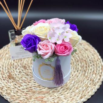 Muilo Gėlių kompozicijos Gėlės pagamintos iš muilo / Muilo Gėlės / Darbų pavyzdys ID 705149