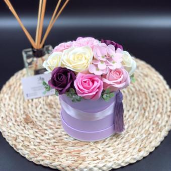 Muilo Gėlių kompozicijos Gėlės pagamintos iš muilo / Muilo Gėlės / Darbų pavyzdys ID 705153