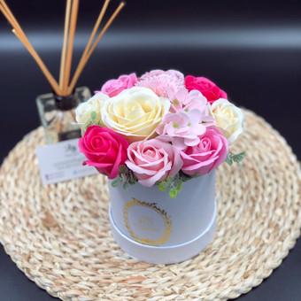 Muilo Gėlių kompozicijos Gėlės pagamintos iš muilo / Muilo Gėlės / Darbų pavyzdys ID 705157