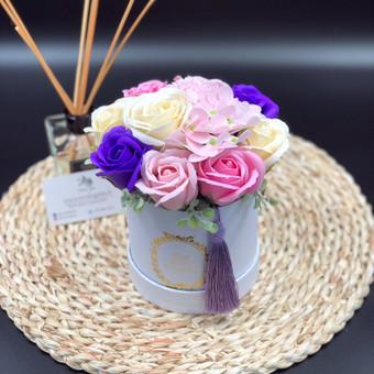 Muilo Gėlių kompozicijos Gėlės pagamintos iš muilo / Muilo Gėlės / Darbų pavyzdys ID 705159