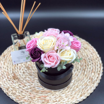 Muilo Gėlių kompozicijos Gėlės pagamintos iš muilo / Muilo Gėlės / Darbų pavyzdys ID 705165