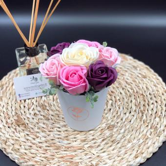 Muilo Gėlių kompozicijos Gėlės pagamintos iš muilo / Muilo Gėlės / Darbų pavyzdys ID 705173