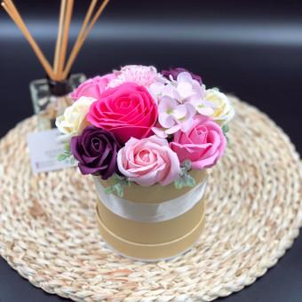 Muilo Gėlių kompozicijos Gėlės pagamintos iš muilo / Muilo Gėlės / Darbų pavyzdys ID 705175
