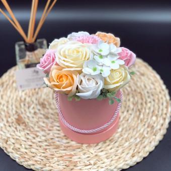 Muilo Gėlių kompozicijos Gėlės pagamintos iš muilo / Muilo Gėlės / Darbų pavyzdys ID 705189