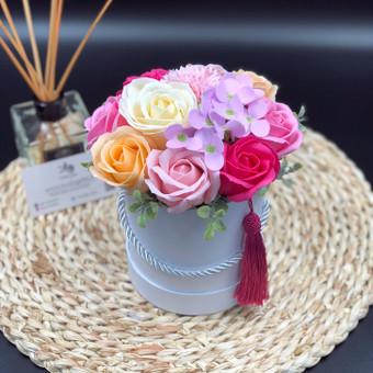 Muilo Gėlių kompozicijos Gėlės pagamintos iš muilo / Muilo Gėlės / Darbų pavyzdys ID 705199