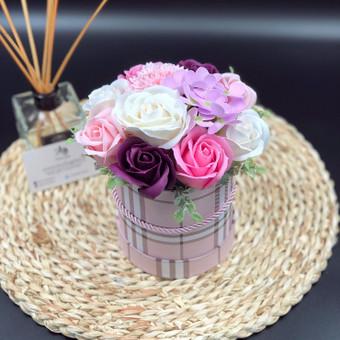 Muilo Gėlių kompozicijos Gėlės pagamintos iš muilo / Muilo Gėlės / Darbų pavyzdys ID 705203