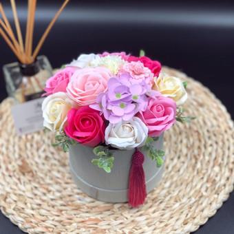 Muilo Gėlių kompozicijos Gėlės pagamintos iš muilo / Muilo Gėlės / Darbų pavyzdys ID 705205