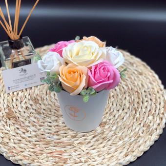 Muilo Gėlių kompozicijos Gėlės pagamintos iš muilo / Muilo Gėlės / Darbų pavyzdys ID 705213