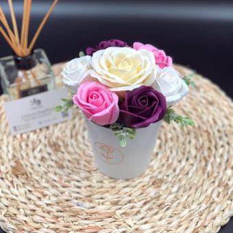 Muilo Gėlių kompozicijos Gėlės pagamintos iš muilo / Muilo Gėlės / Darbų pavyzdys ID 705215