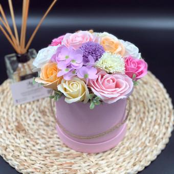 Muilo Gėlių kompozicijos Gėlės pagamintos iš muilo / Muilo Gėlės / Darbų pavyzdys ID 705219