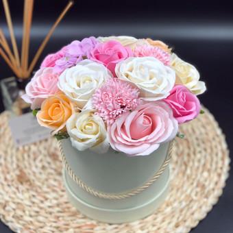 Muilo Gėlių kompozicijos Gėlės pagamintos iš muilo / Muilo Gėlės / Darbų pavyzdys ID 705221