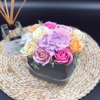 Muilo Gėlių kompozicijos Gėlės pagamintos iš muilo / Muilo Gėlės / Darbų pavyzdys ID 705231