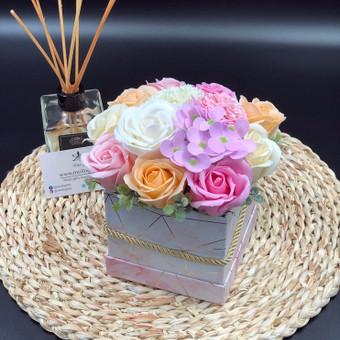 Muilo Gėlių kompozicijos Gėlės pagamintos iš muilo / Muilo Gėlės / Darbų pavyzdys ID 705239