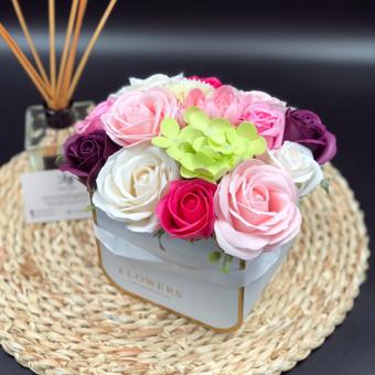 Muilo Gėlių kompozicijos Gėlės pagamintos iš muilo / Muilo Gėlės / Darbų pavyzdys ID 705241