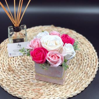Muilo Gėlių kompozicijos Gėlės pagamintos iš muilo / Muilo Gėlės / Darbų pavyzdys ID 705243