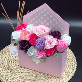 Muilo Gėlių kompozicijos Gėlės pagamintos iš muilo / Muilo Gėlės / Darbų pavyzdys ID 705249