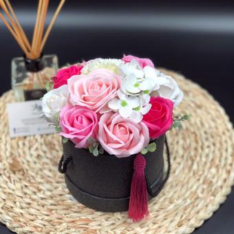 Muilo Gėlių kompozicijos Gėlės pagamintos iš muilo / Muilo Gėlės / Darbų pavyzdys ID 705259