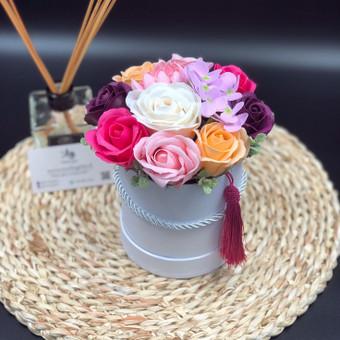 Muilo Gėlių kompozicijos Gėlės pagamintos iš muilo / Muilo Gėlės / Darbų pavyzdys ID 705265