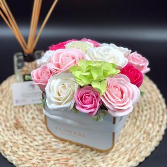 Muilo Gėlių kompozicijos Gėlės pagamintos iš muilo / Muilo Gėlės / Darbų pavyzdys ID 705269