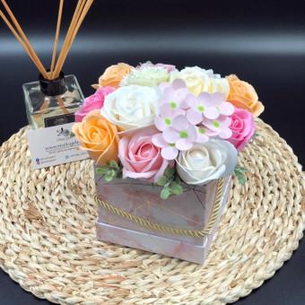 Muilo Gėlių kompozicijos Gėlės pagamintos iš muilo / Muilo Gėlės / Darbų pavyzdys ID 705277