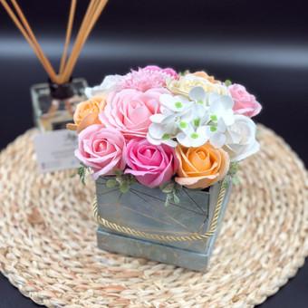 Muilo Gėlių kompozicijos Gėlės pagamintos iš muilo / Muilo Gėlės / Darbų pavyzdys ID 705279
