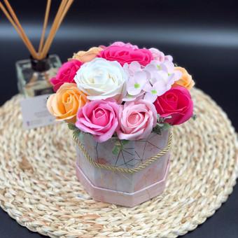 Muilo Gėlių kompozicijos Gėlės pagamintos iš muilo / Muilo Gėlės / Darbų pavyzdys ID 705281
