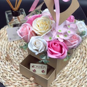 Muilo Gėlių kompozicijos Gėlės pagamintos iš muilo / Muilo Gėlės / Darbų pavyzdys ID 705283