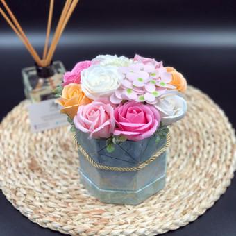 Muilo Gėlių kompozicijos Gėlės pagamintos iš muilo / Muilo Gėlės / Darbų pavyzdys ID 705287