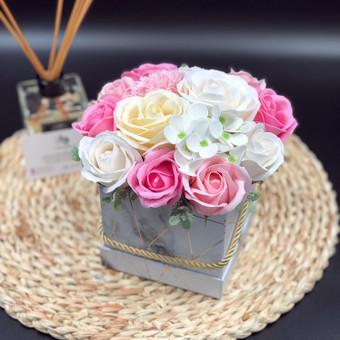 Muilo Gėlių kompozicijos Gėlės pagamintos iš muilo / Muilo Gėlės / Darbų pavyzdys ID 705289