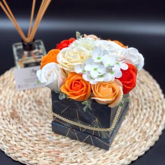 Muilo Gėlių kompozicijos Gėlės pagamintos iš muilo / Muilo Gėlės / Darbų pavyzdys ID 705295