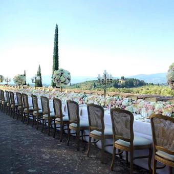 Toskana-Italija stalo dekoras