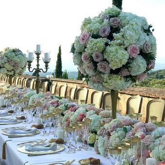 Italija- Toskana klasikinis stalo dekoras