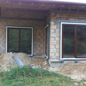 Plastiko, Aliuminio, Medžio profilio langai,durys,pertvaros / UAB / Darbų pavyzdys ID 709915