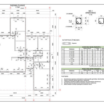 Braižyba AutoCad programa / Mantas / Darbų pavyzdys ID 713249