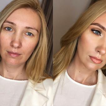 Tobulos odos paruošimas, kreminis veido modeliavimas, tobulų antakių formavimas, akių šešėliavimas, akių formavimas dirbt. blakstienomis , tobulų lūpų formavimas. Ryškesnis makiažas-50 ...