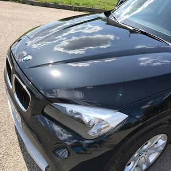 Juodas BMW X1. 3-jų etapų poliravimas + paslaugų paketas + vaškavimas   Informacija tel. +370 655 66511 arba FB: @poliranta