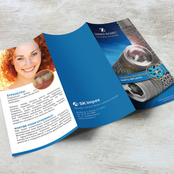 Dantų implantų lankstinuko dizainas