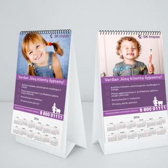 Reklaminio kalendoriaus klientams dizainas.