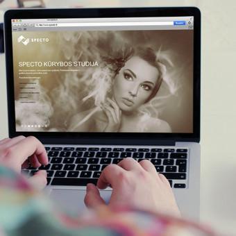 Tinklapio www.specto.lt dizainas.