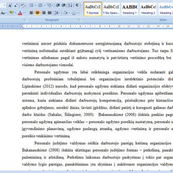 Konsultavimas rengiant rašto darbus / Gerda / Darbų pavyzdys ID 731167