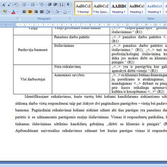 Konsultavimas rengiant rašto darbus / Gerda / Darbų pavyzdys ID 731169